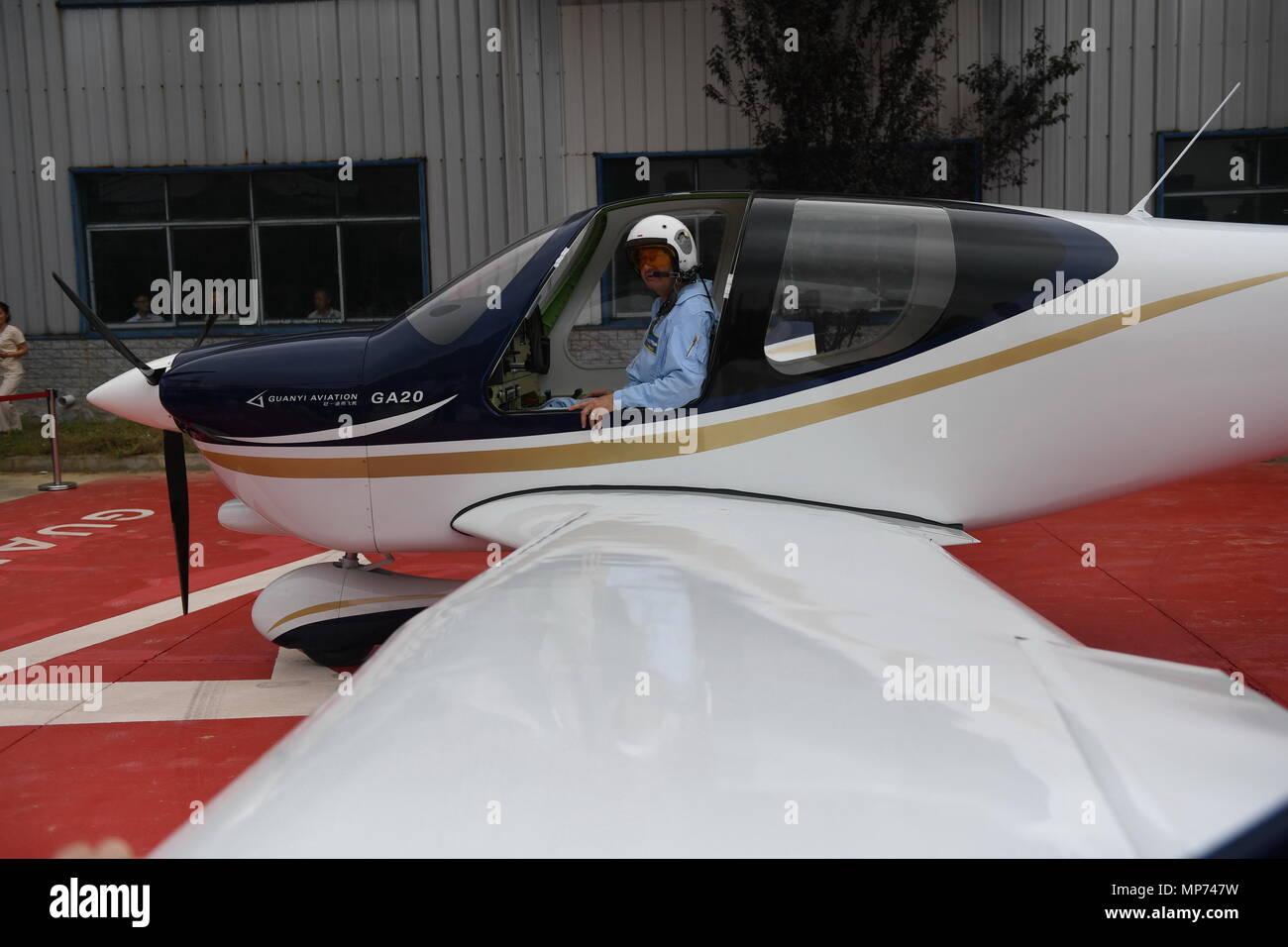 Nanchang Chinas Jiangxi Province 21st May 2018 A Pilot Gets Off An