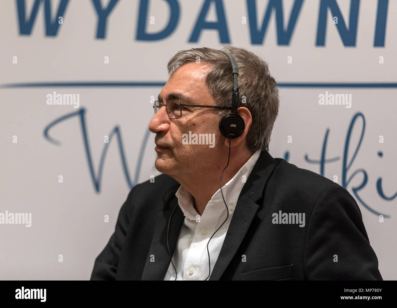 Cracow, Poland - May 21, 2018: Meeting with the Turkish writer, Nobel Prize laureate Orhan Pamuk in Krakow on the occasion of the 65th anniversary of the Literary Publishers. Poland Credit: Wieslaw Jarek/Alamy Live News Stock Photo