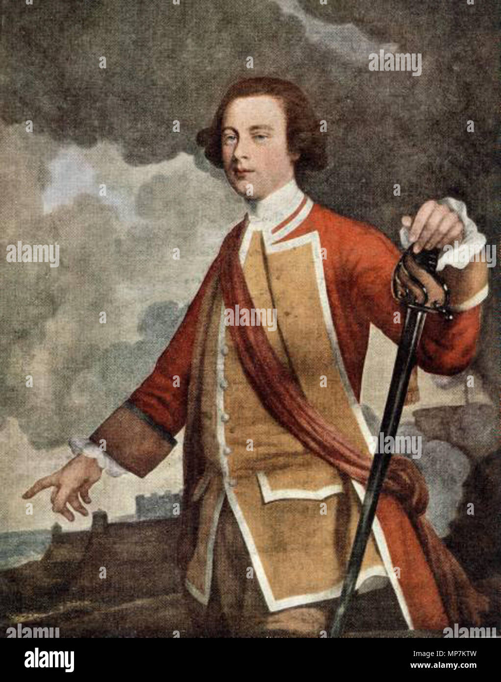 English: Portrait of British general James Wolfe . 1759. 694 James ...