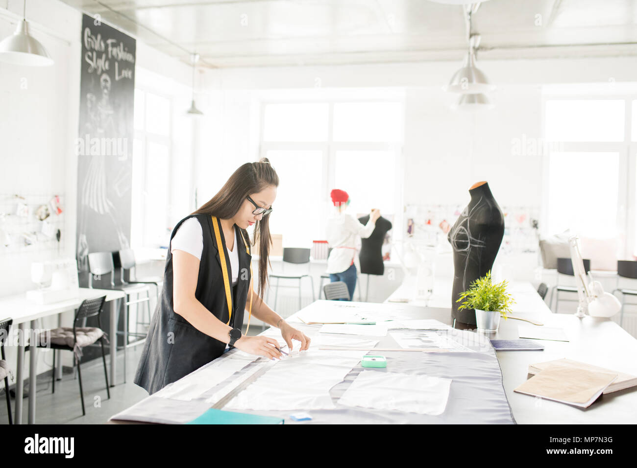 Creative Designers Working in Atelier - Stock Image