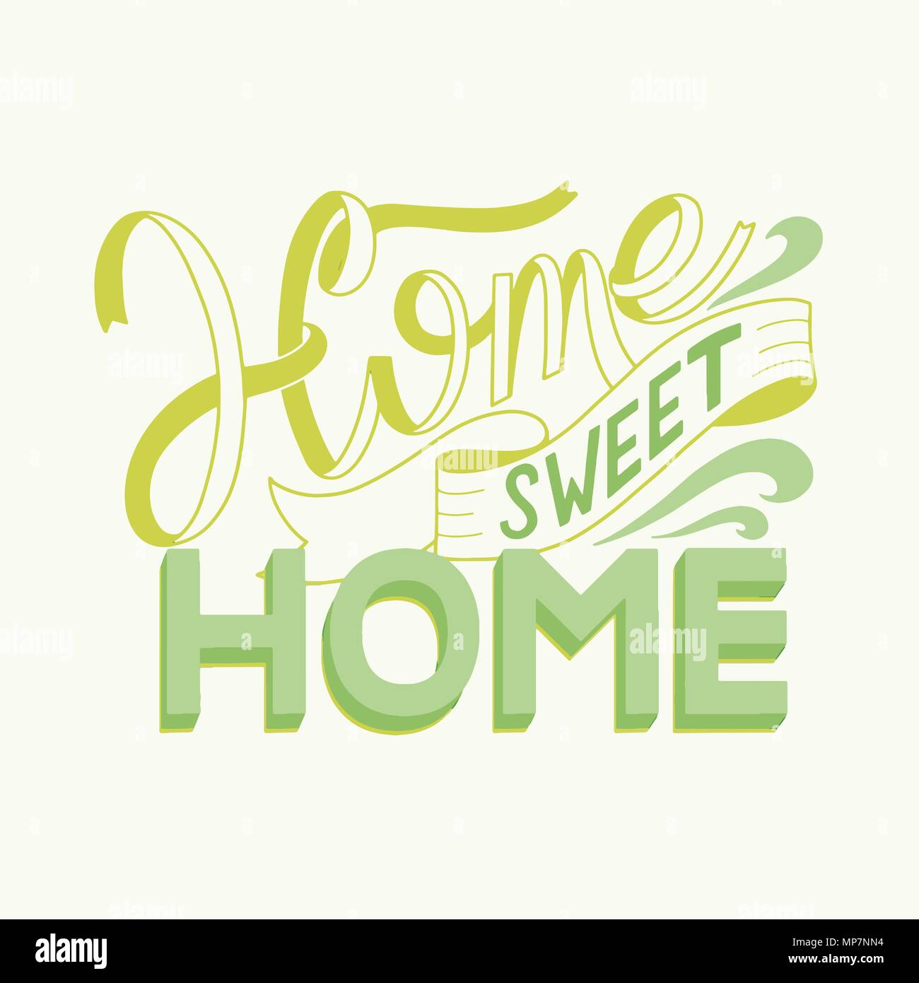 Home Sweet Home Lettering Vector Elements For Invitations Posters