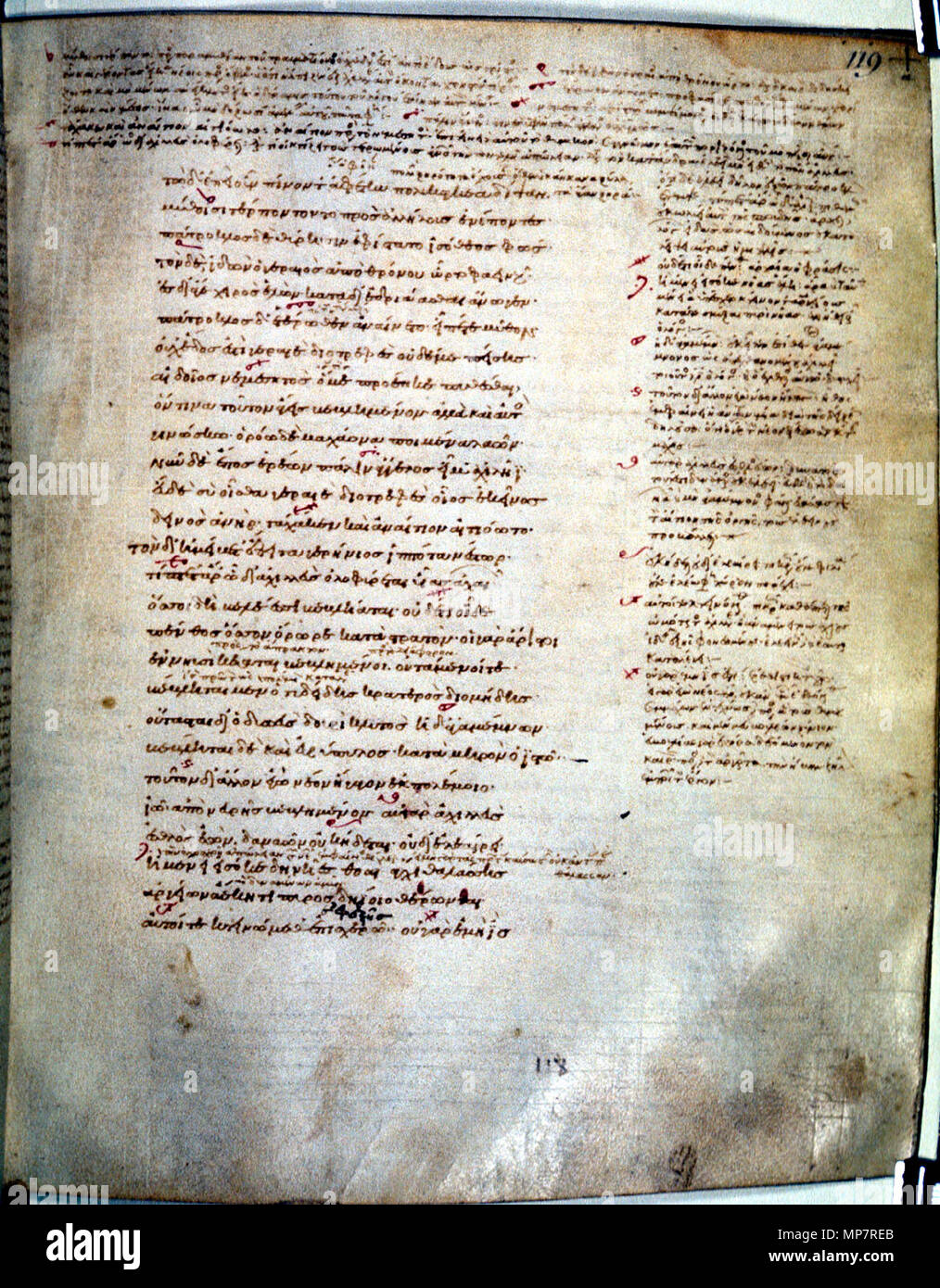 . Polski: folio 119 of the codex . 27 October 2006, 11:28:03. Unknown 1201 Townley Homer - Stock Image