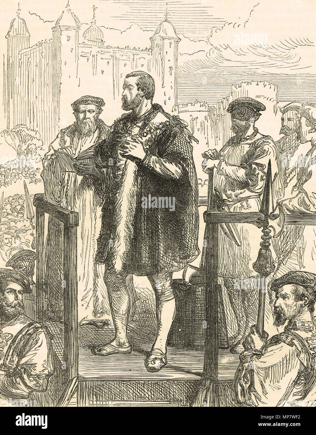 Execution of Edward Stafford, 3rd Duke of Buckingham, 17 May 1521.  Accused of intending to kill King Henry VIII - Stock Image
