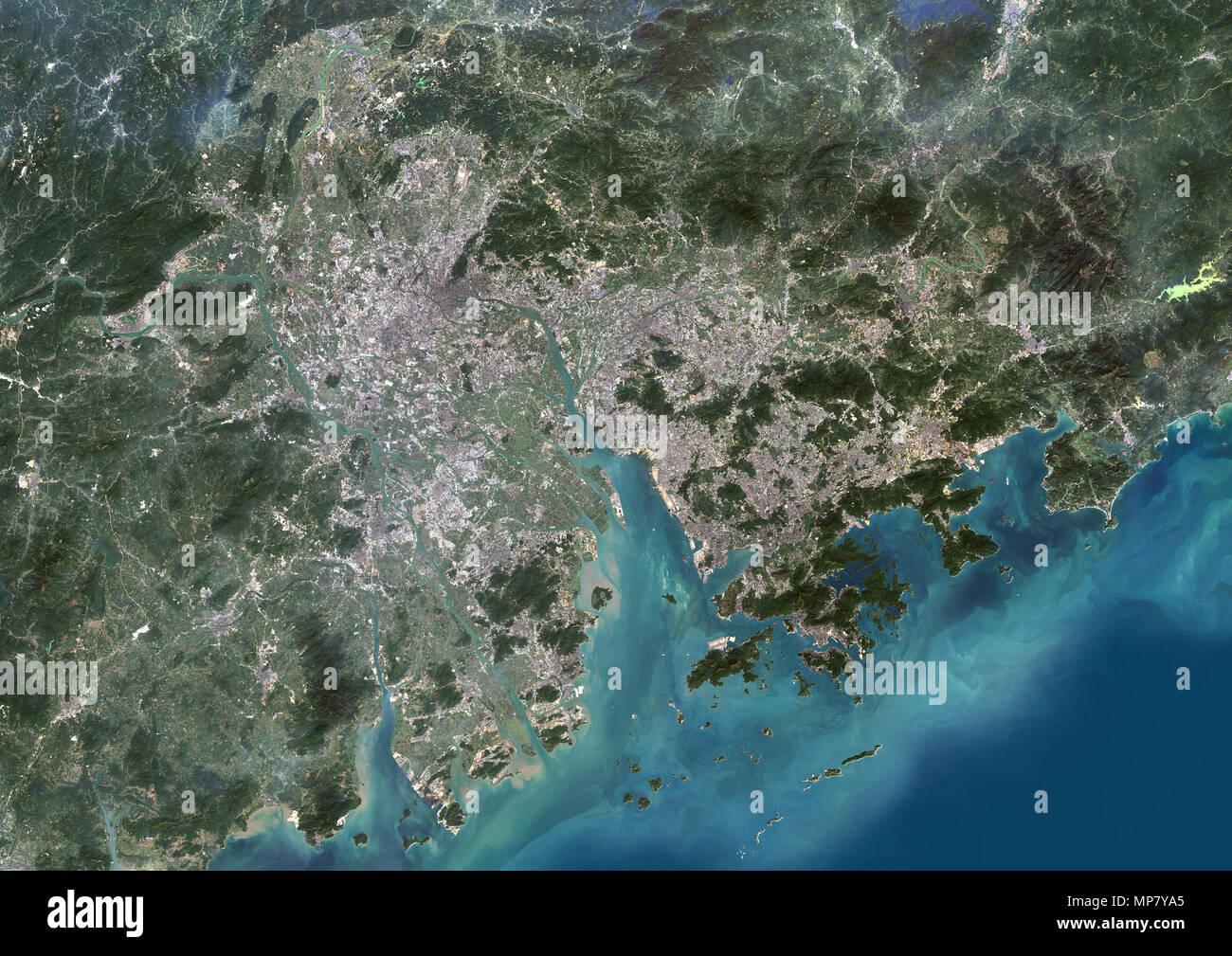 Guangzhou to Hong Kong, Pearl River Delta, China - Stock Image
