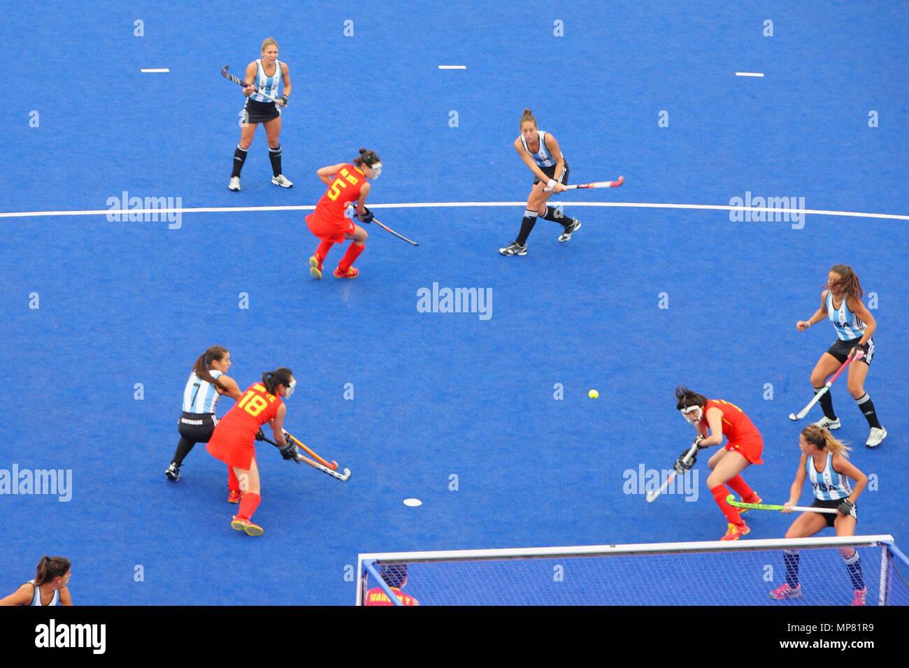 The Visa International Invitational Hockey Tournament Argentina Vs