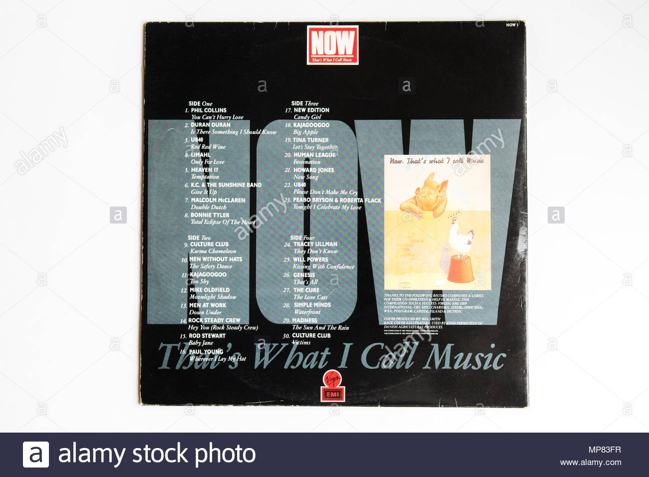 Now that's what I call music - Now! 1 Now 1 album sleeve back - Stock Image