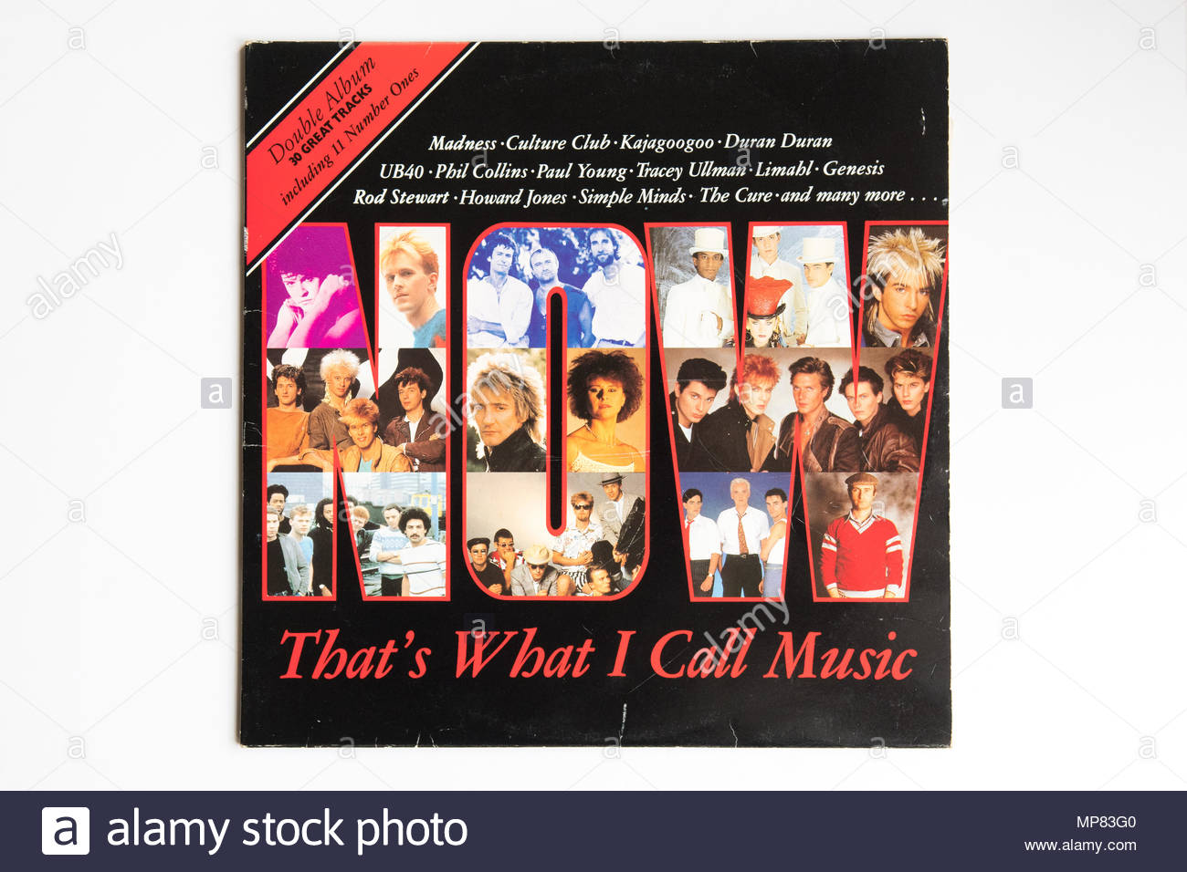 Now That's What I Call Music No1 - the first NOW album original vinyl album cover, released 1983 - Stock Image