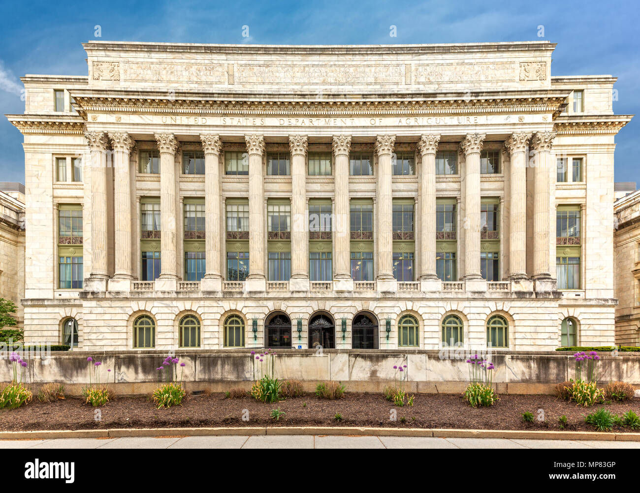 The US Department of Agriculture building (aka the Jamie L. Whitten) in Washington DC. - Stock Image