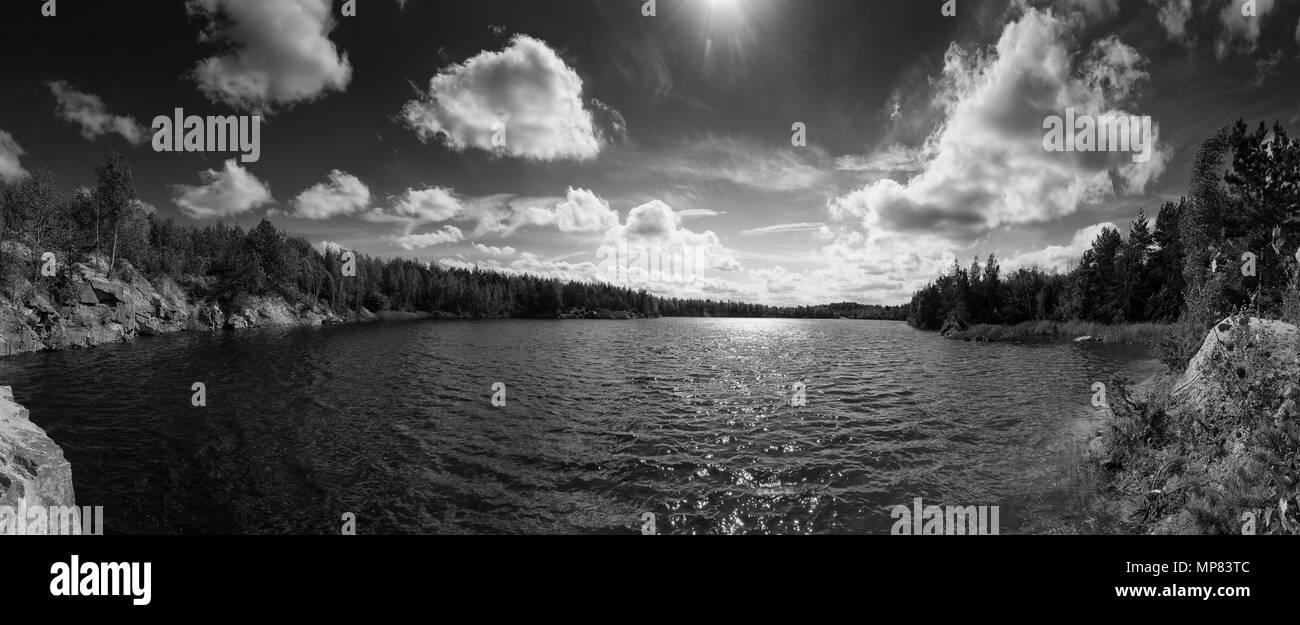 Beautiful summer lake - Stock Image