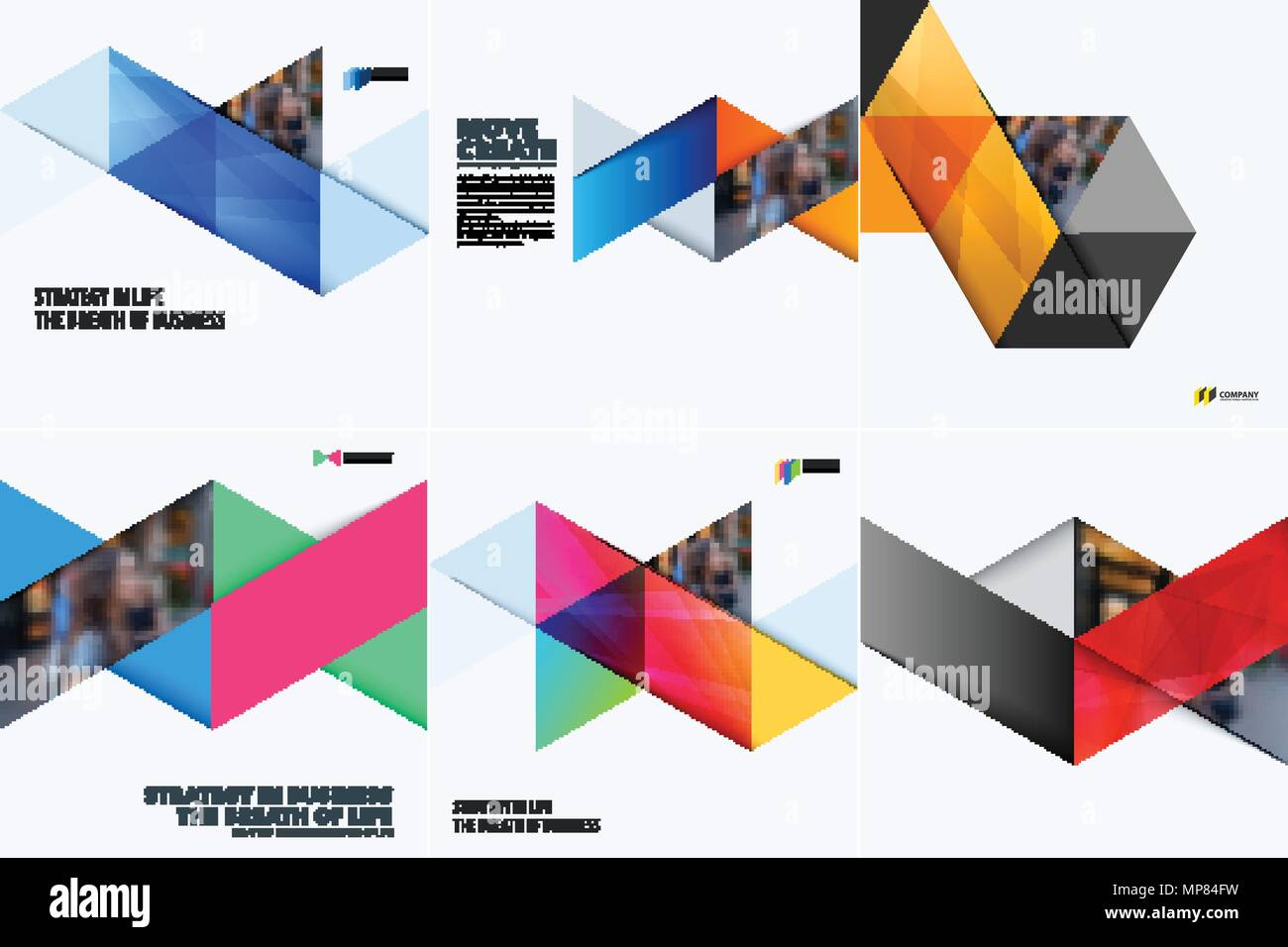 set of modern design abstract templates creative business