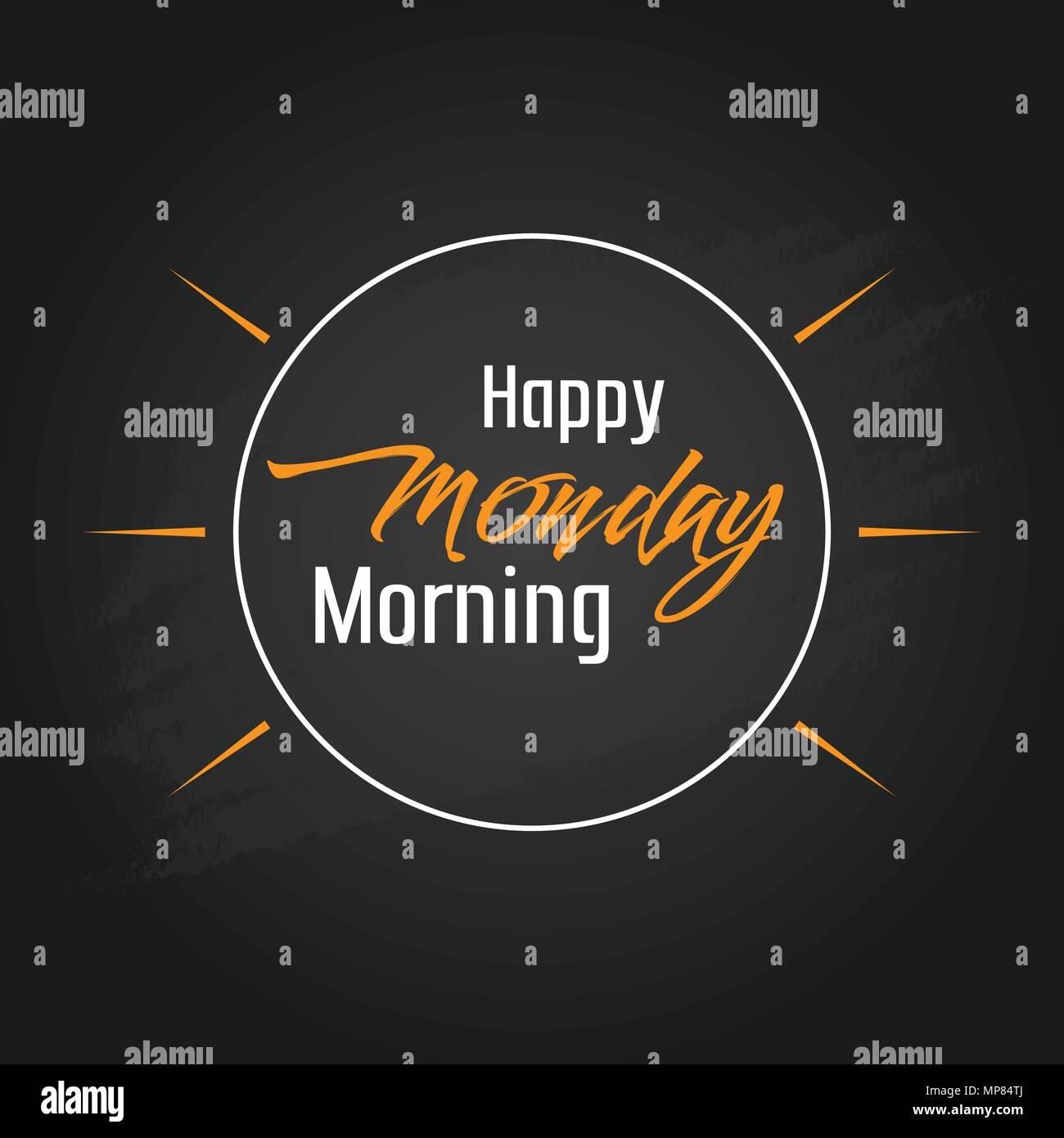 Happy Monday Morning Vector Template Design Stock Vector Image Art Alamy