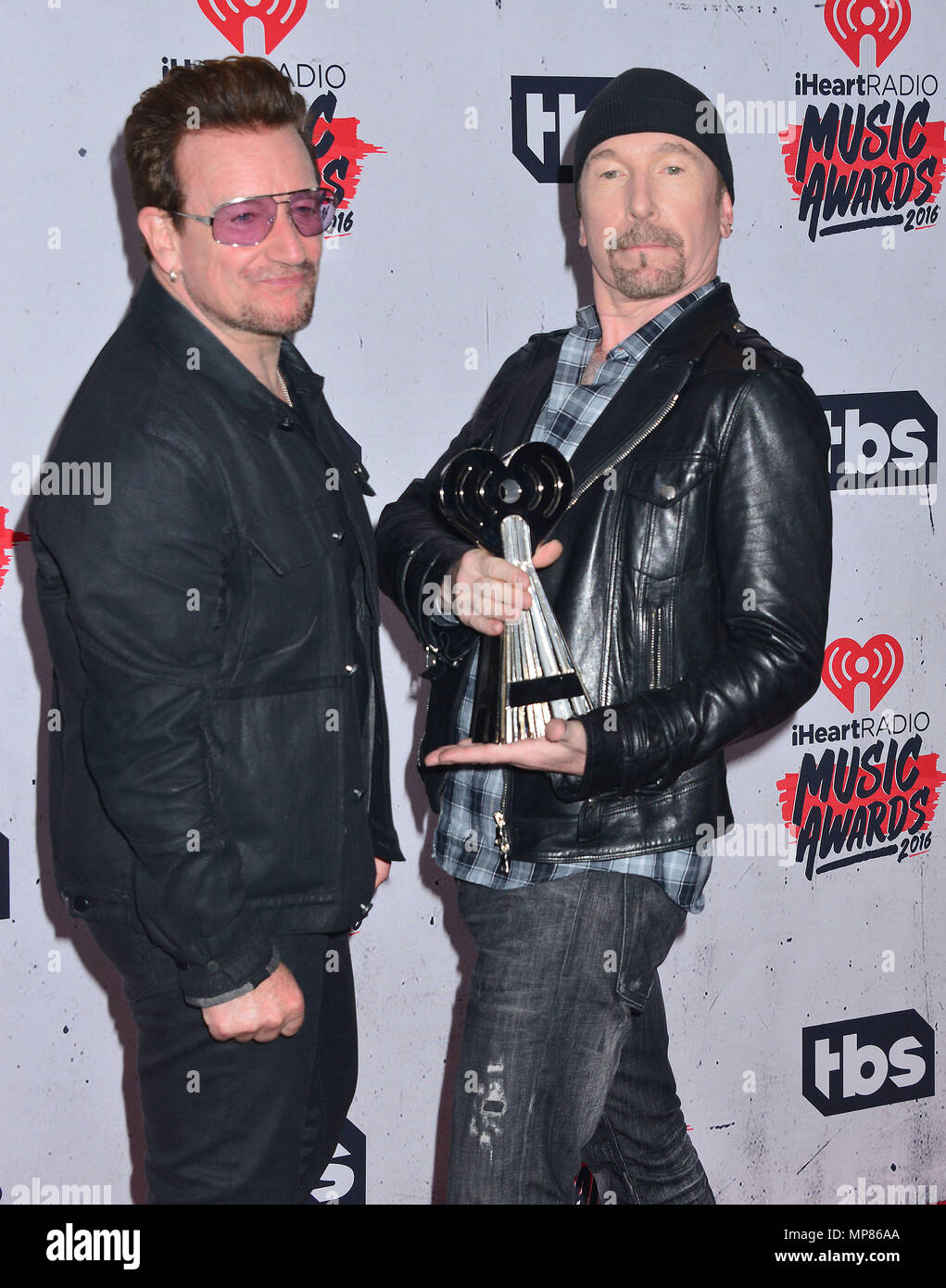 a Bono, The Edge 029 at the 2016 iHeartRadio Music Awards at the