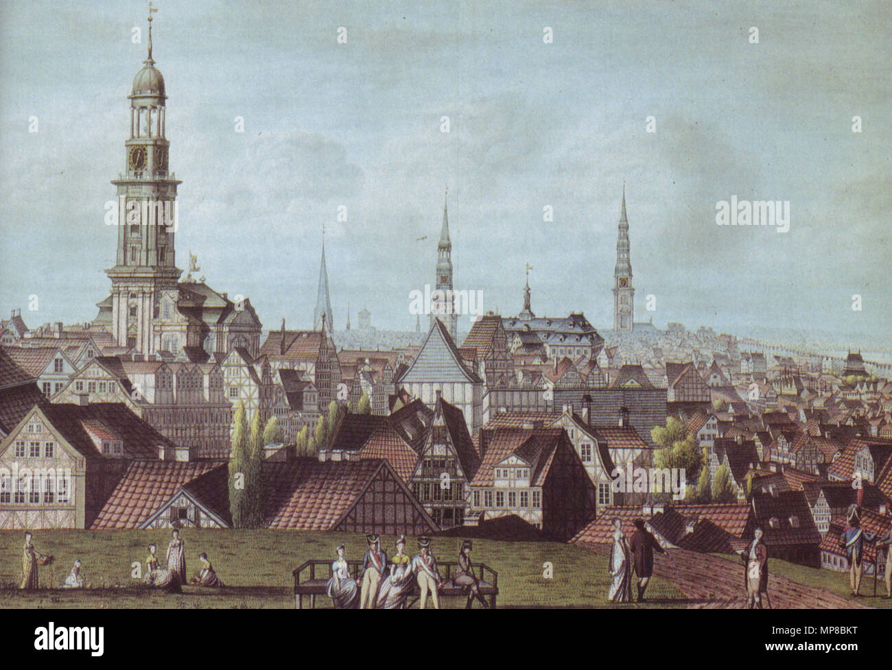 Prospekt Der Kaiserlich Franzosischen Stadt Hamburg This Is A