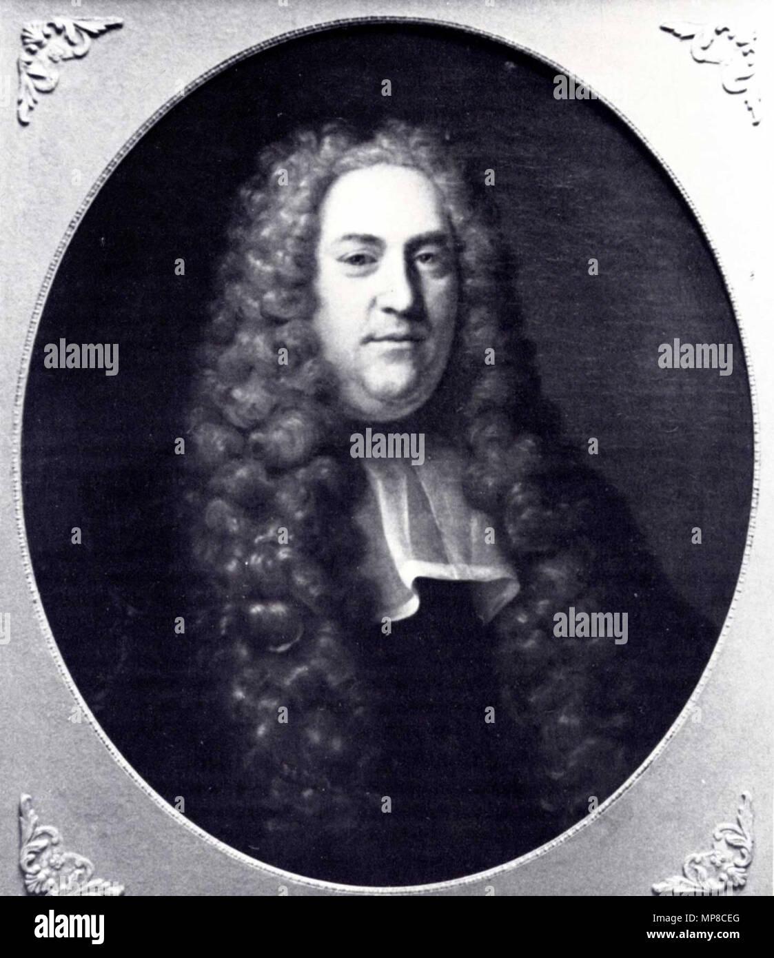 .  Nederlands: Johan van der Does (1694-1749), raadsheer Hoge Raad en thesaurier-generaal van de Republiek der Zeven Verenigde Nederlanden . 1739.   723 Johan van der Does - Stock Image