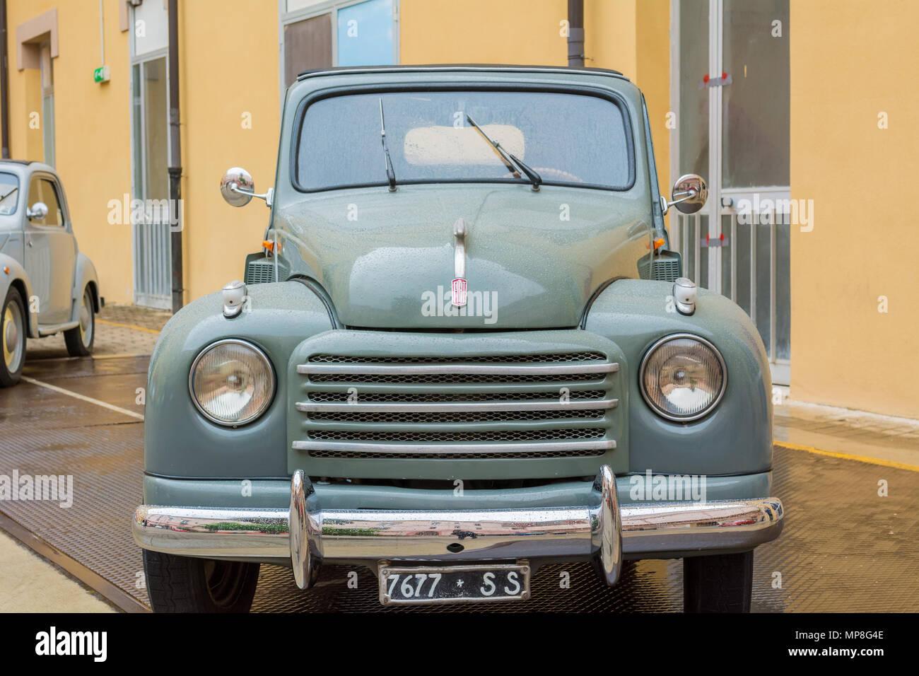 FIAT 500 C 'Topolino' (1950) -  a classic vintage italian car, Cagliari, Sardinia, Italy - Stock Image