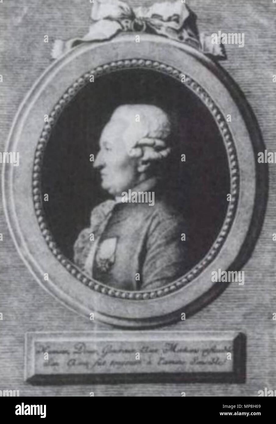 .  Deutsch: Joseph d'Hémery (1722-1806), oberster polizeilicher Inspektor des Buchhandels in Frankreich . circa 1780. Nicolas-François Regnault (1746-1810) 741 Joseph D'Hemery Stock Photo