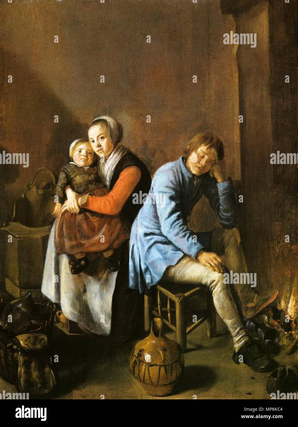 English: A soldier's family   circa 1633  Judith Leyster