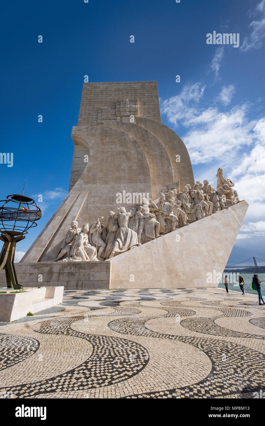 Discoveres monument at Belem, Lisbon, Postugal - Stock Image