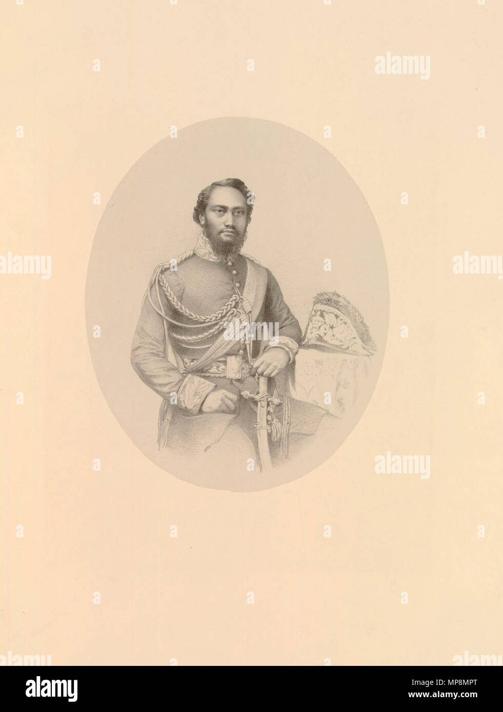 . English: King Kamehameha IV by Richard James Lane, printed by M & N Hanhart, lithograph, 1861. circa 1861.   Richard James Lane (1800–1872)   Alternative names Richard J. Lane  Description English engraver and lithographer  Date of birth/death 16 February 1800 21 November 1872  Location of birth Berkeley Castle  Authority control  : Q7326816 VIAF:59348682 ISNI:0000 0000 6658 4871 ULAN:500120153 LCCN:n81054202 SUDOC:119740117 WorldCat    , printed by M & N Hanhart 756 Kamehameha IV by Richard James Lane, lithograph, 1861 - Stock Image