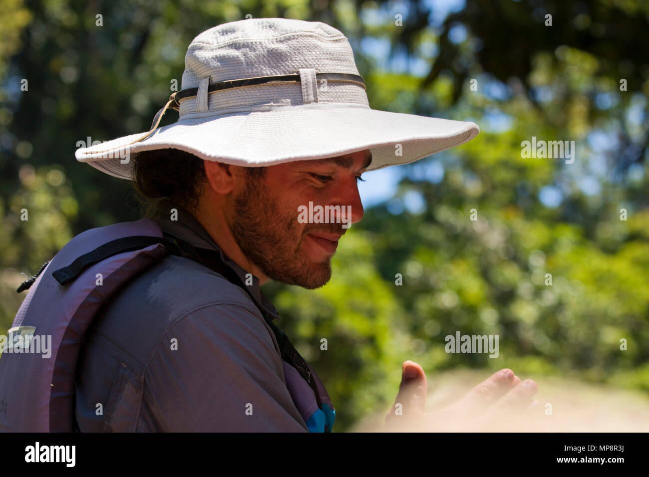 Costa Rica male model - Stock Image