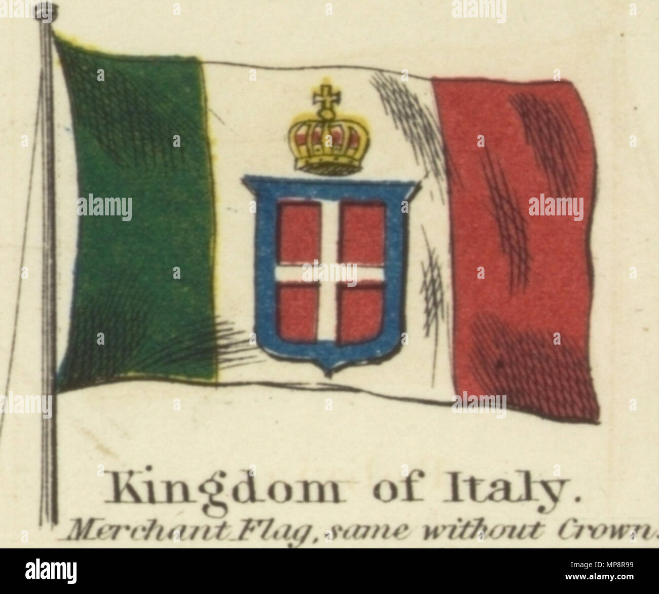 English Kingdom Of Italy Johnsons New Chart Of National Emblems