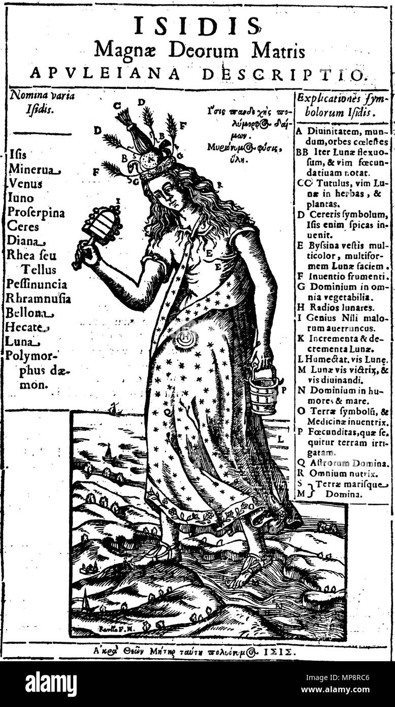 Kircher oedipus aegyptiacus stock photos kircher oedipus english isis mother of the gods from athanasius kircher oedipus aegyptiacus ccuart Images