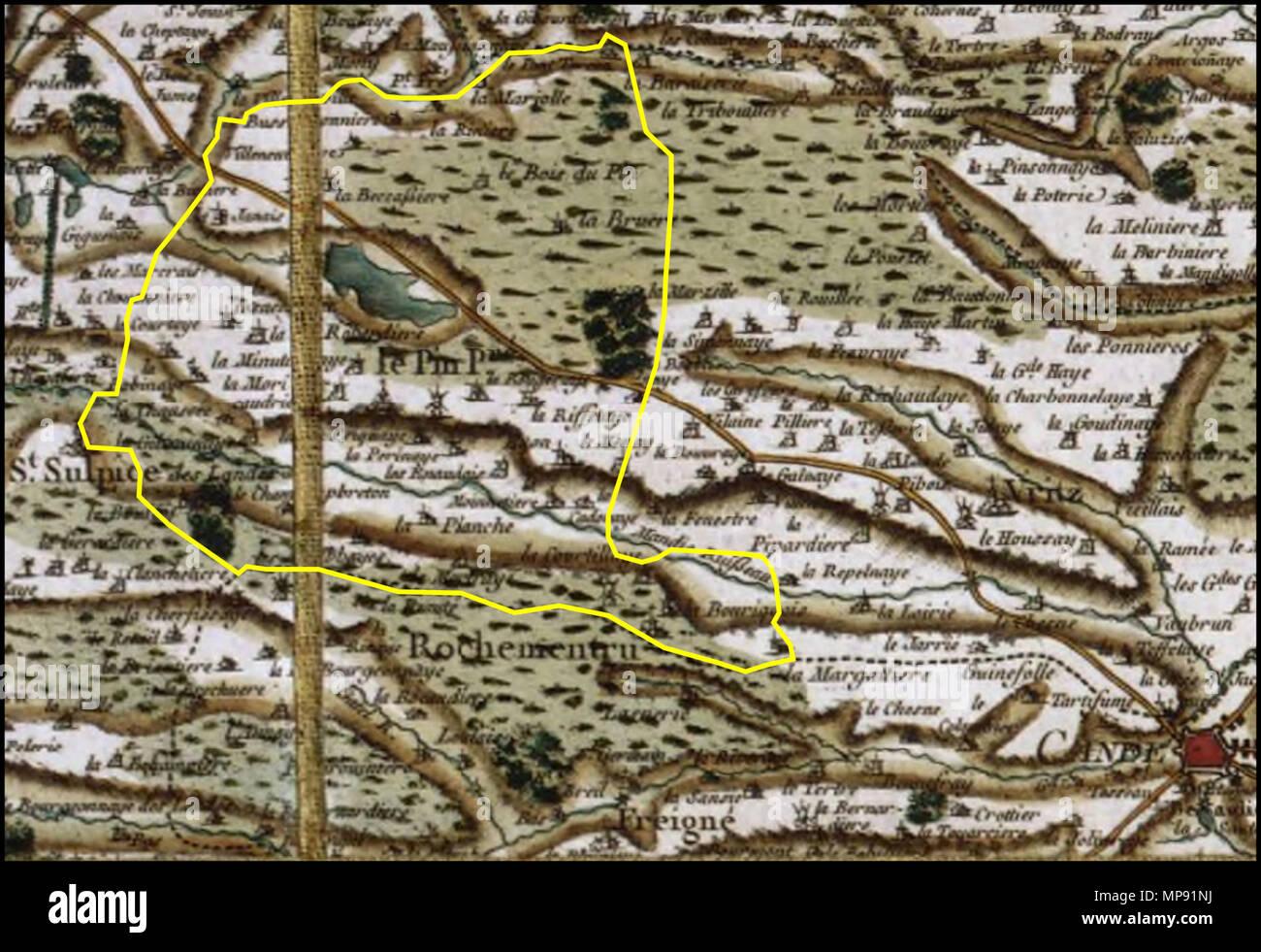 carte de cassini date Français : Le Pin (Loire Atlantique) sur la carte de Cassini. 1765