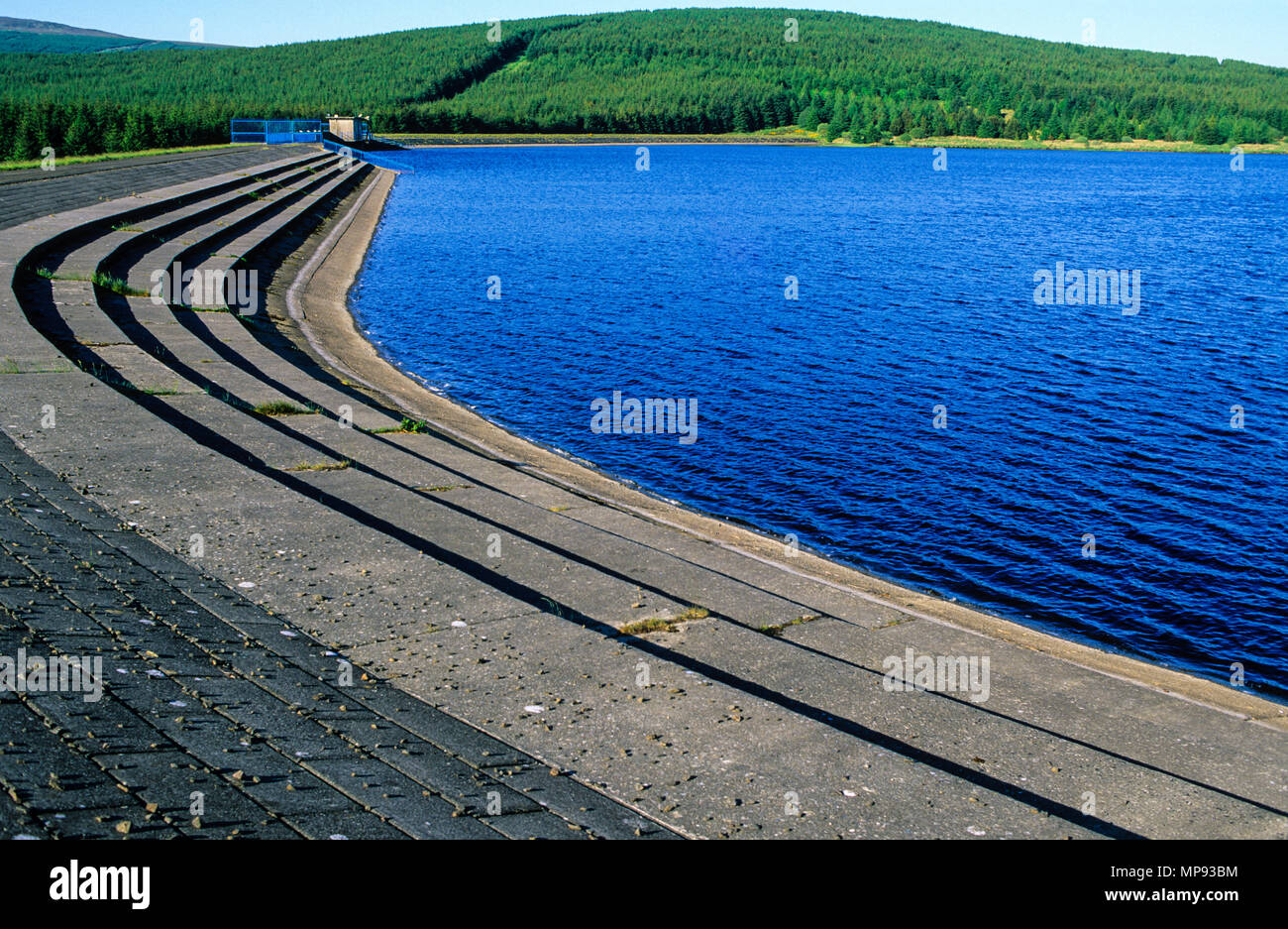 Altnahinch Reservoir, Slieveanorra Forest,  Loughguile, County Antrim, Northern Ireland, UK, GB. - Stock Image