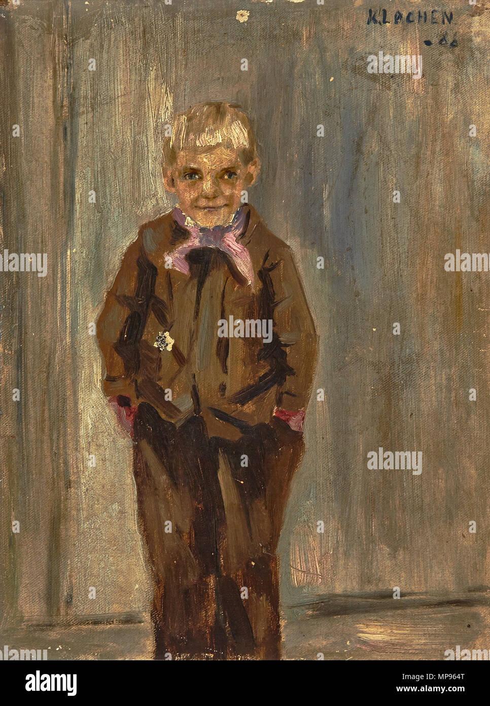 815 Kalle Løchen - Lyslugget gutt (1888) - Stock Image