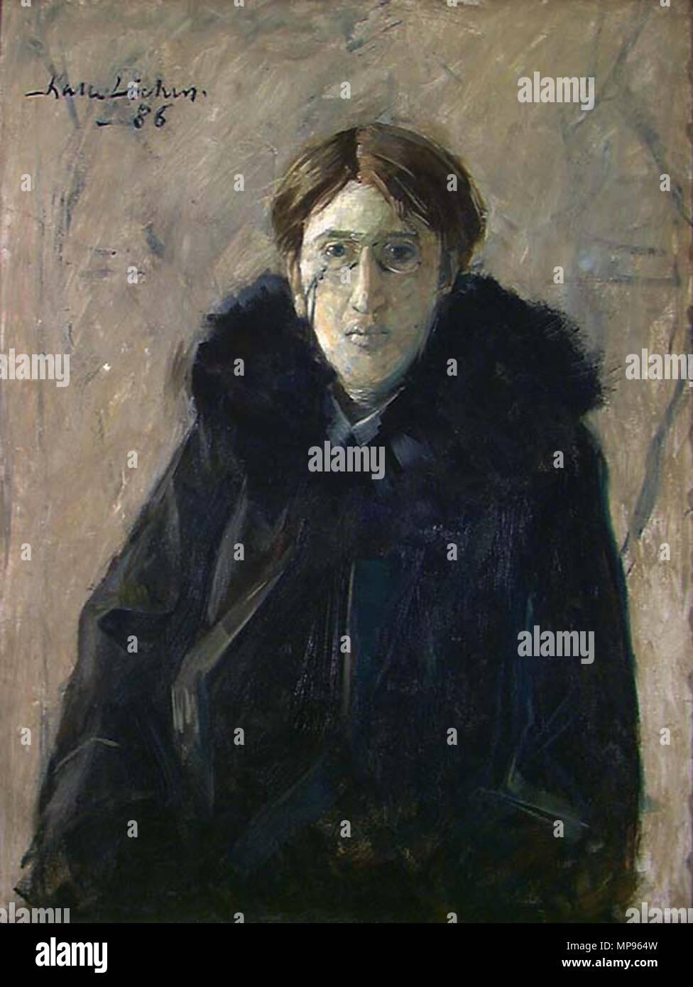 815 Kalle Løchen - Portrett av skuespilleren B. K. (1886) - Stock Image