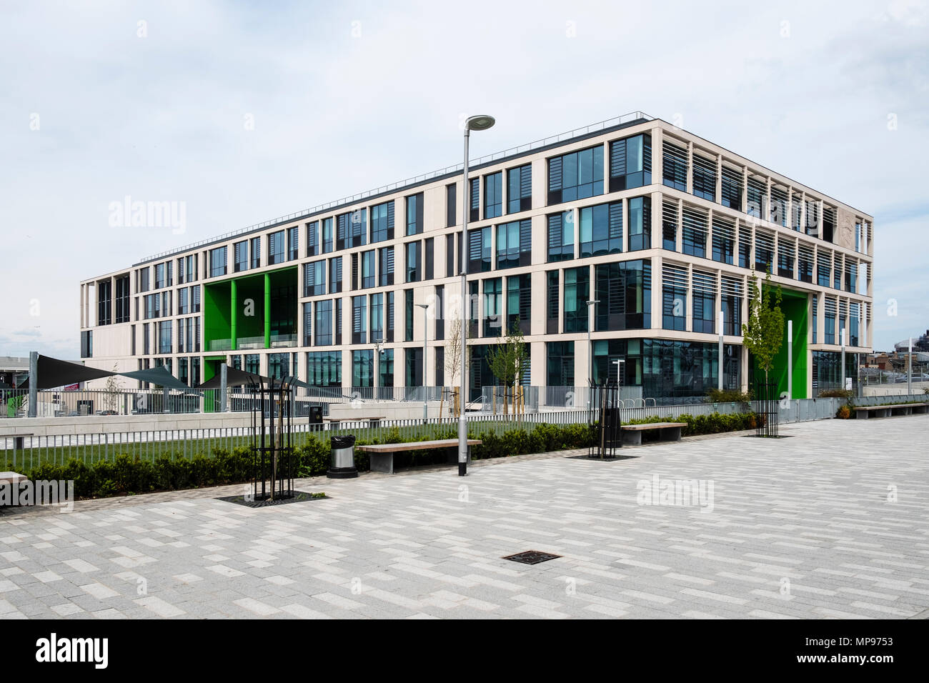 View of new Boroughmuir High School recently opened in Edinburgh, Scotland, UK, United Kingdom - Stock Image