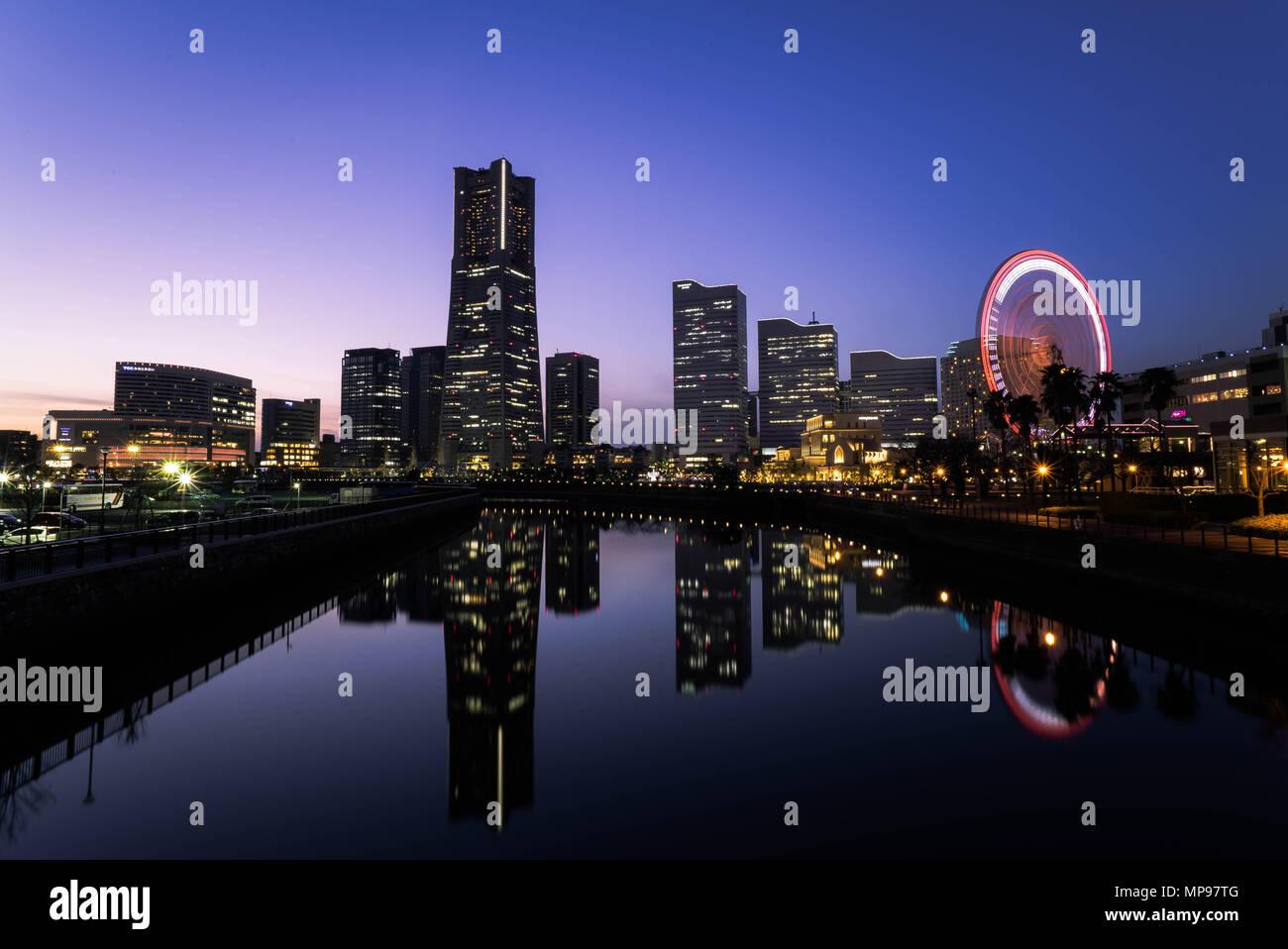 Cityscape of Yokohama MinatoMirai in Yokohama City, Kanagawa Prefecture, Japan. - Stock Image