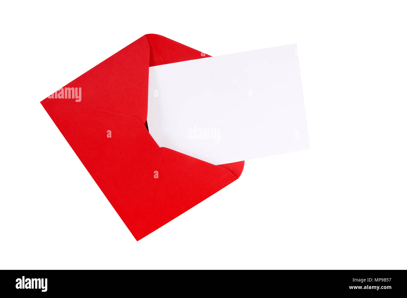 Red Envelope With Blank White Greeting Card Stock Photo 185832451