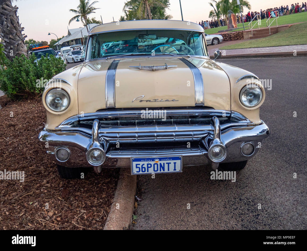 Pontiac Star Chief Stock Photos Images 1950 A 2 Door Car Parked On The Road In Cable Beach Broome