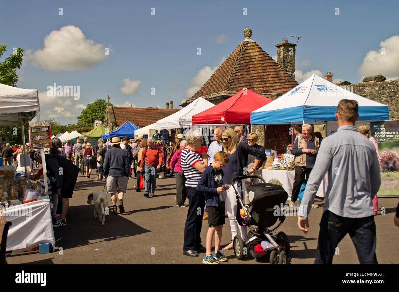 Shaftesbury Food Festival - Stock Image