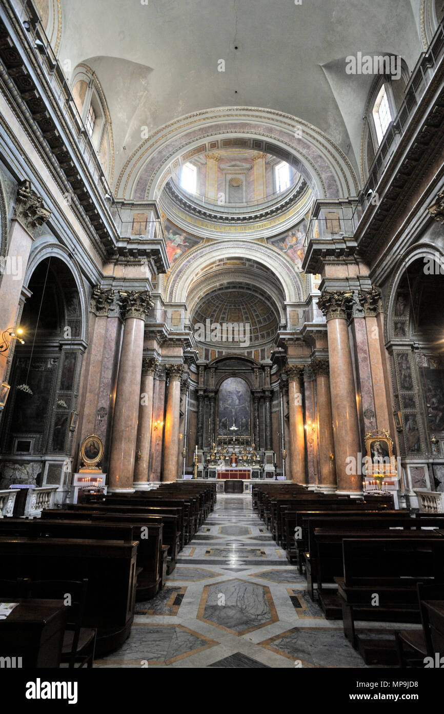 Italy, Rome, church of the Holy Trinity of the Pilgrims, Santissima Trinità dei Pellegrini Stock Photo