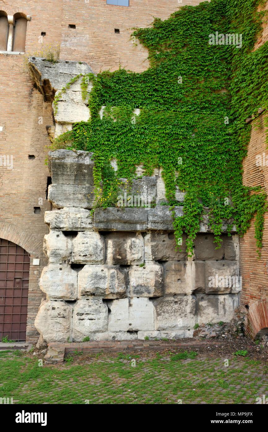 italy, rome, celio, basilica dei santi giovanni e paolo, ruins of the roman temple of claudius - Stock Image