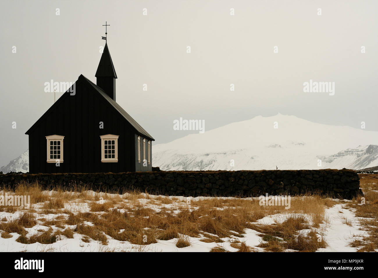 Church at Budir, Snaefellsnes Peninsula, Iceland - Stock Image