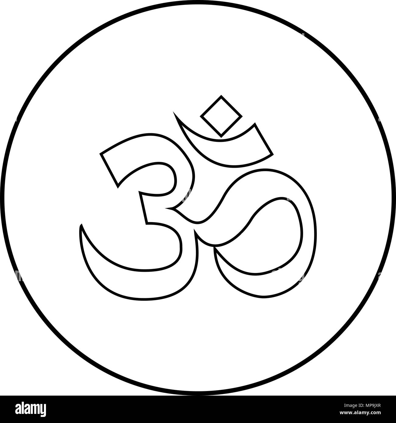 Om Sign Black And White Stock Photos Images Alamy