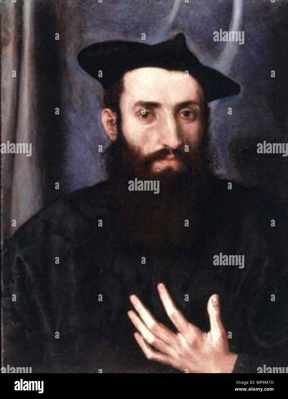 . Portrait of Giovanni Maria Pizoni . 16th century.   Lorenzo Lotto (1480–)   Description Italian painter and fresco painter  Date of birth/death circa 1480 1556 / 1557  Location of birth/death Venice Loreto  Work location Recanati (1506-1508), Venice (1500), Treviso (1503-1506), Rome (1509-1512), Bergamo (1513-1525), Venice (1513-1517), Treviso (1525-1527), Venice (1527-1529), Loreto, Venice (1529-1539), Treviso (1540-1549), Ancona (1549), Loreto (1556)  Authority control  : Q310973 VIAF:22165049 ISNI:0000 0001 2320 0265 ULAN:500015631 LCCN:n50042418 NLA:35692463 WorldCat 820 Lorenzo - Stock Image