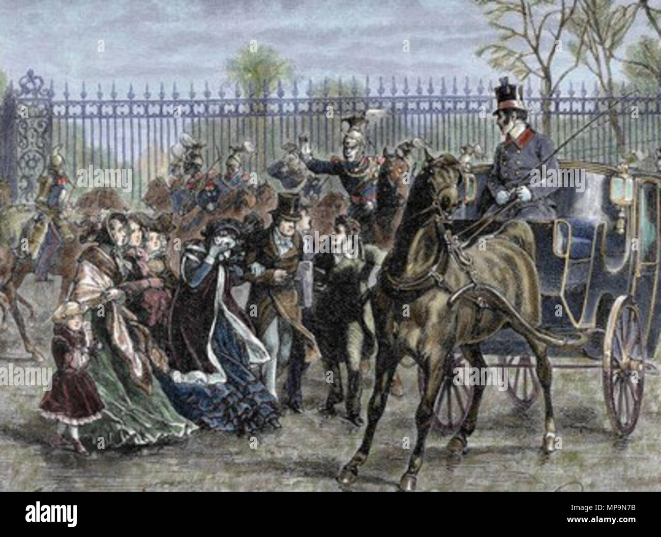 21e35d6568 English  Louis Philippe and the French royal family fleeing the Palace of  Tuileries during .