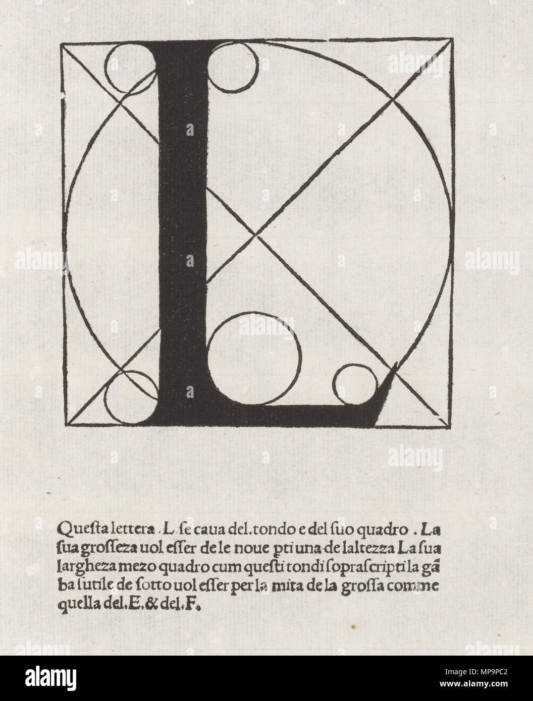 English Letter From The Alphabet By Luca Pacioli In De Divina