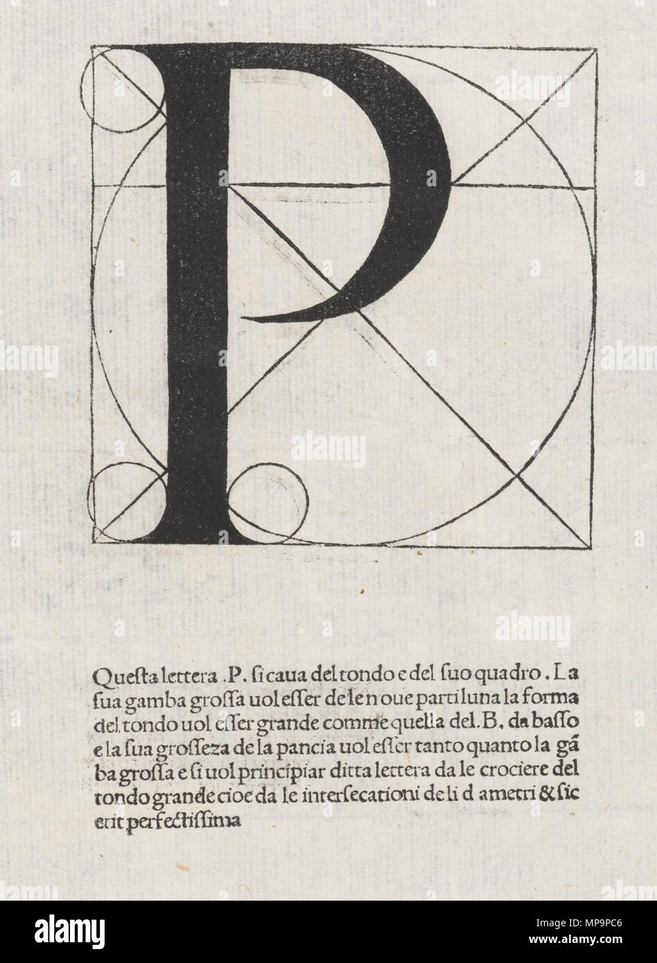 English: Letter from the alphabet by Luca Pacioli, in De