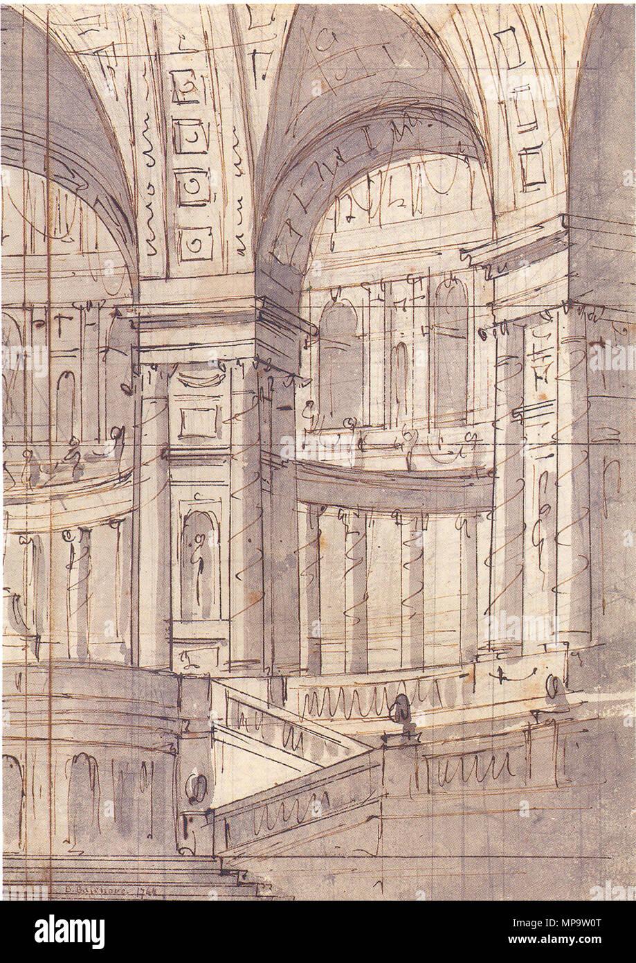 Русский: Эскиз театральной декорации в классическом стиле 1764. 1225 Vasili  Bazhenov - Sketch