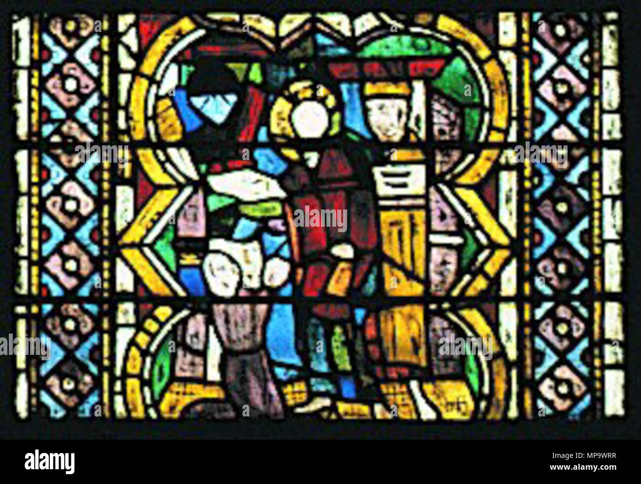 . Maestro di San Francesco, ss bartolomeo e matteo, S. Matteo salva gli uomini dalle molestie dei maghi . 13th century.   843 Maestro di San Francesco, ss bartolomeo e matteo, S. Matteo salva gli uomini dalle molestie dei maghi Stock Photo
