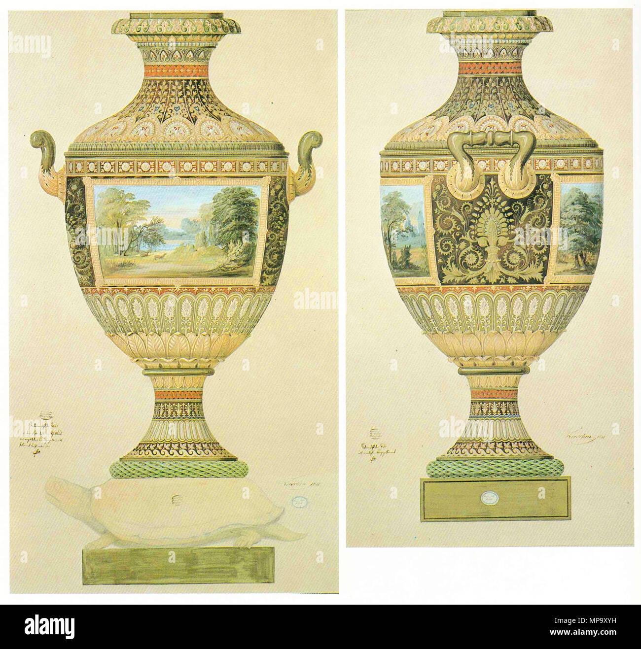Malvorlage für eine Vase . 1837. scanned by Wschmock 847 Malvorlage ...