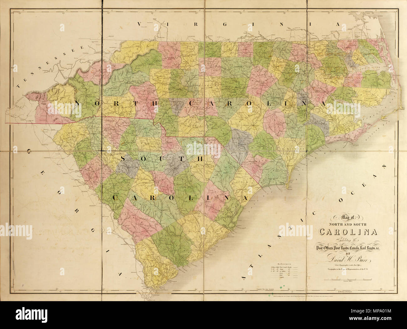 Carolina Del Norte Mapa.Russkij Karta Shtatov Severnaya Karolina I Yuzhnaya Karolina