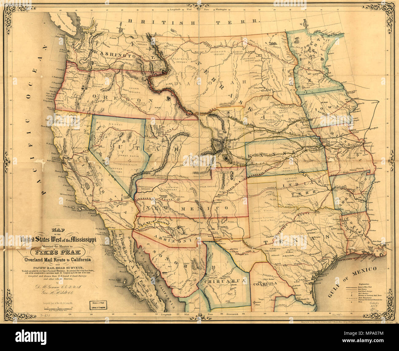 Transcontinental Railroad Map Stock Photos & Transcontinental ...