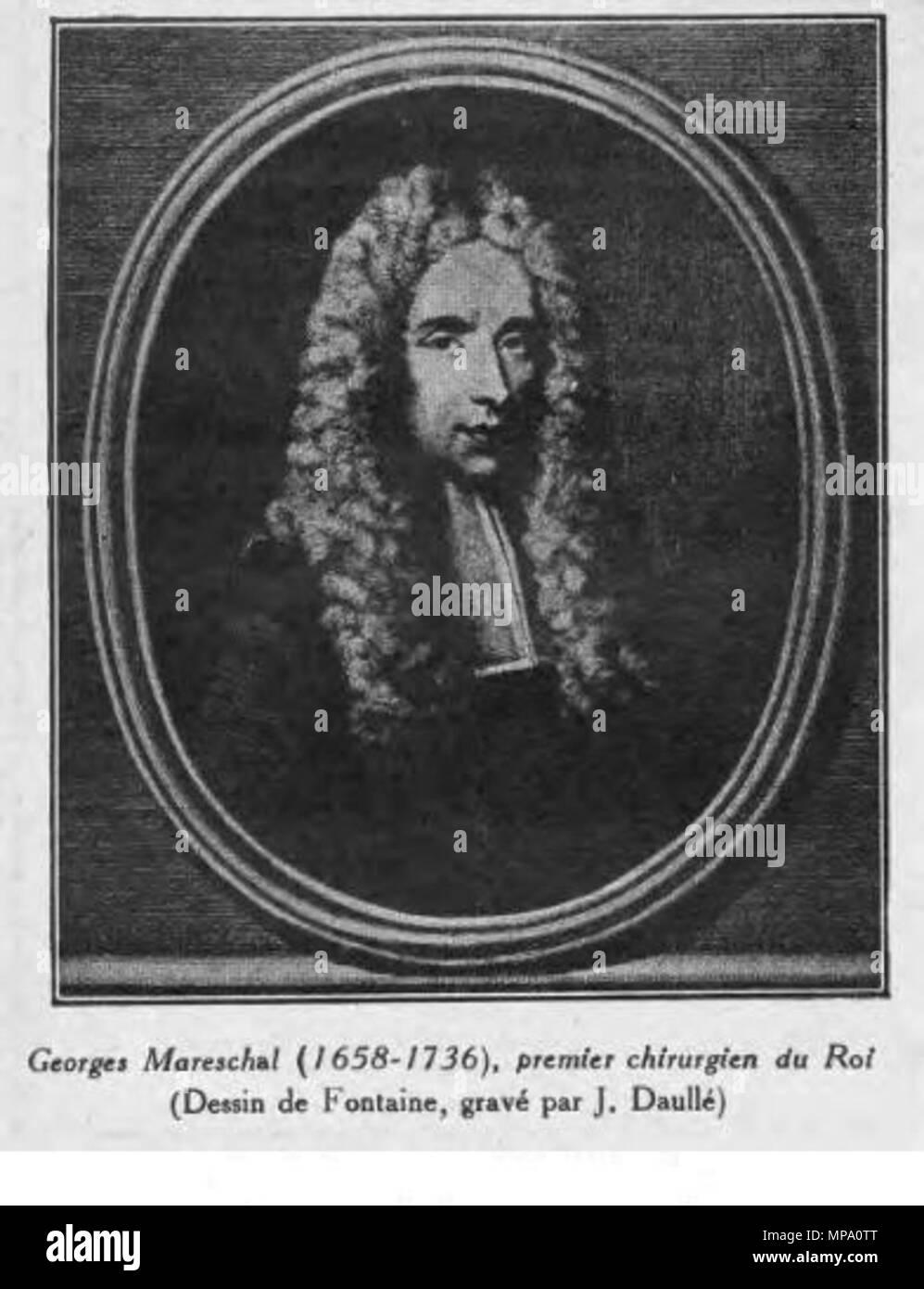 . Georges Mareschal (1658-1736) premier chirurgien du Roi . 18th century.   855 Georges Marechal - Stock Image