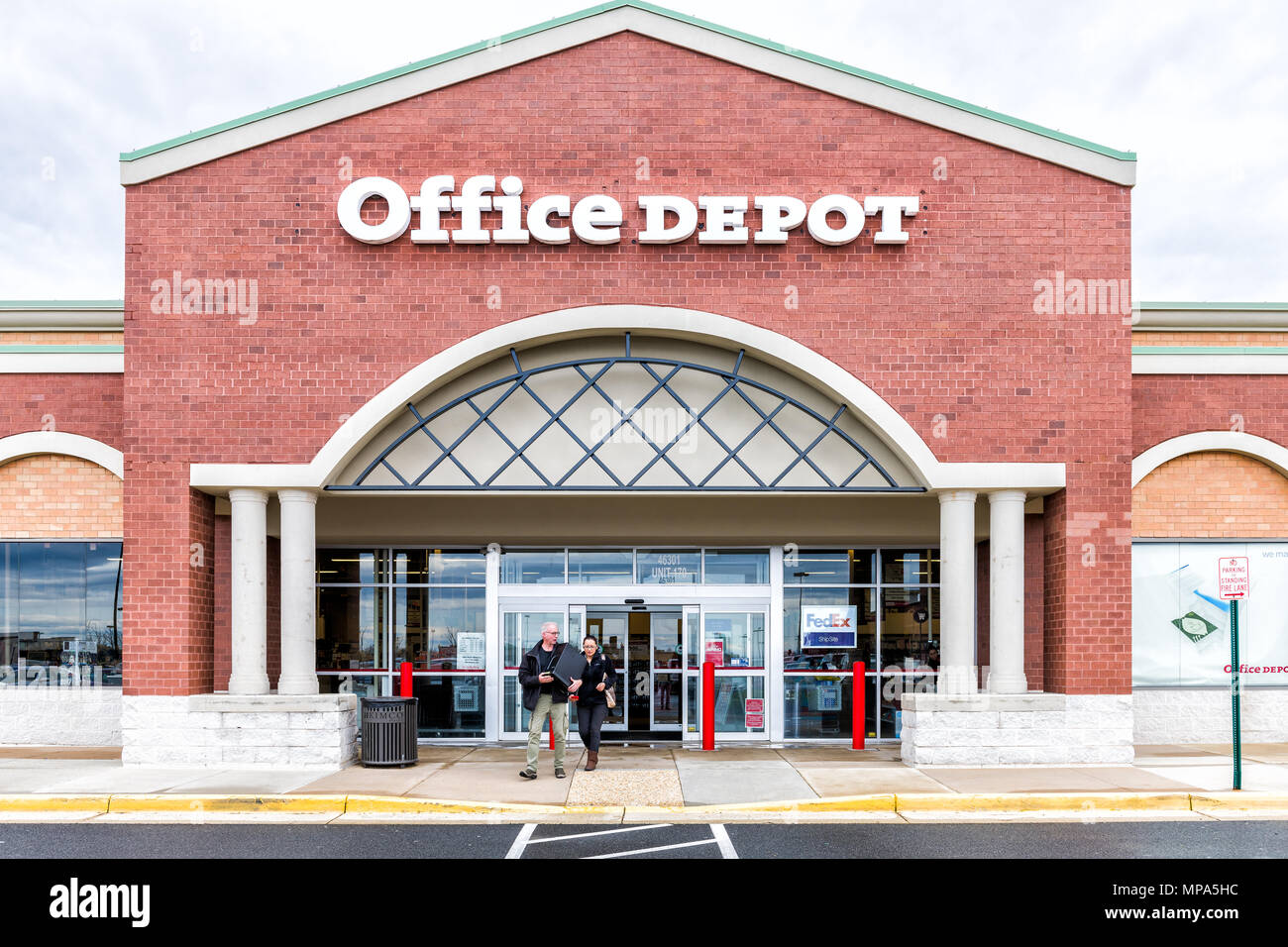Sterling, USA   April 4, 2018: Office Depot Store In Fairfax County,